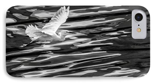 Egret Flying  IPhone Case