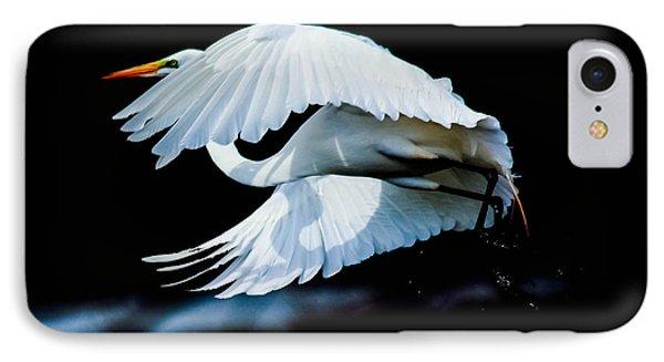 Egret In Flight IPhone Case by Kelly Marquardt