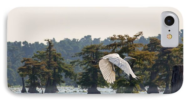 IPhone Case featuring the photograph Egret In Flight by Susi Stroud