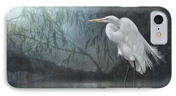 Egret In Moonlight IPhone Case by Brian Tarr