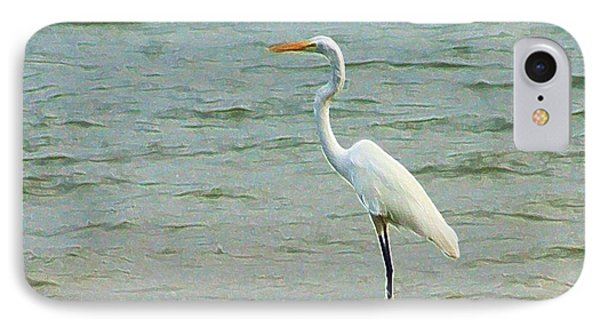 Egret In The Shallows IPhone Case by Ellen O'Reilly