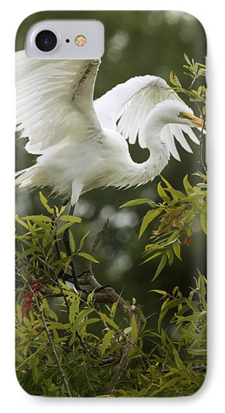 Egret Launch IPhone Case by Joseph G Holland