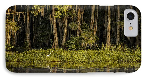 Egret On Caddo Lake IPhone Case by Tamyra Ayles