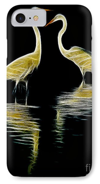 IPhone Case featuring the photograph Egret Pair by Jerry Fornarotto