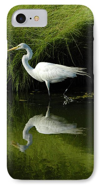 Egret Reflections IPhone Case