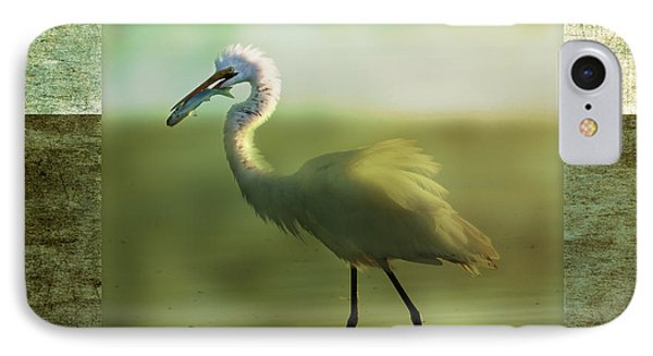Egret With Fish IPhone Case
