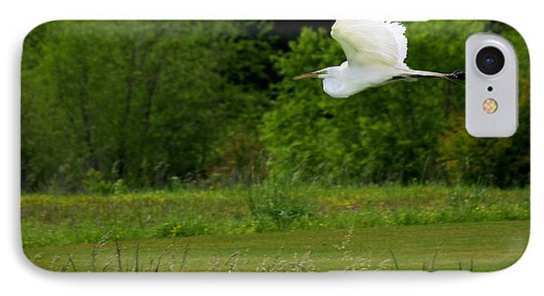 Egret's Flight IPhone Case