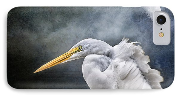 IPhone Case featuring the photograph Egret's Moon by Brian Tarr