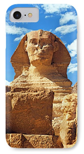 Egypt, Cairo, Giza, The Sphinx IPhone Case by Miva Stock