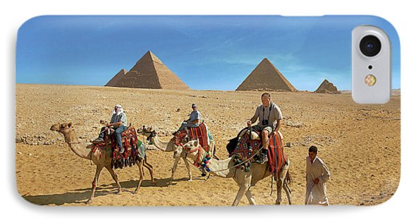 Egypt, Cairo, Giza, Tourists Ride IPhone Case by Miva Stock