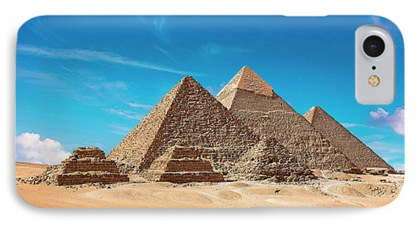 Egypt, Cairo, Giza, View Of All Three IPhone Case