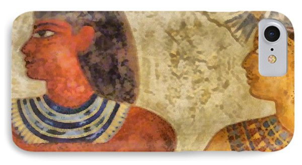 IPhone Case featuring the painting Egypt Pharaohs by Georgi Dimitrov