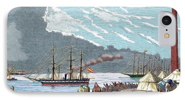 Egypt The Spanish Frigate 'berenguela' IPhone Case by Prisma Archivo