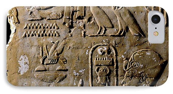 Honeybee iPhone 7 Case - Egyptian Bee Hieroglyph by Thierry Berrod, Mona Lisa Production/ Science Photo Library