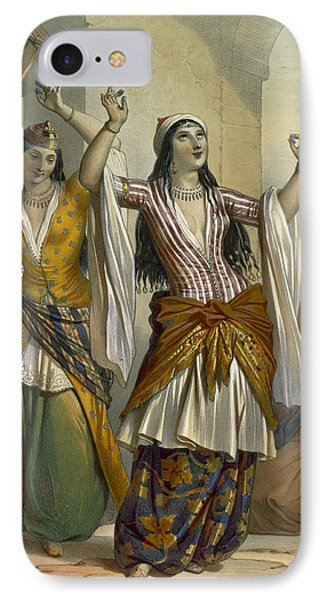 Egyptian Dancing Girls Performing IPhone Case by Emile Prisse d'Avennes