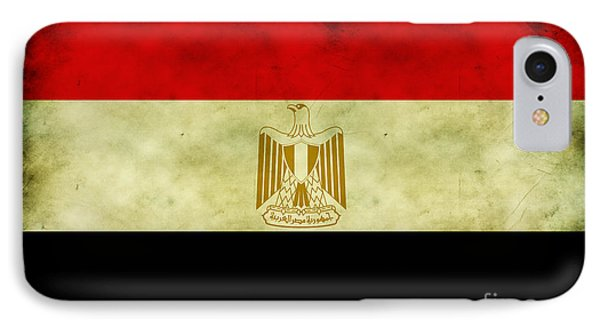 IPhone Case featuring the digital art Egyptian Flag  by Mohamed Elkhamisy