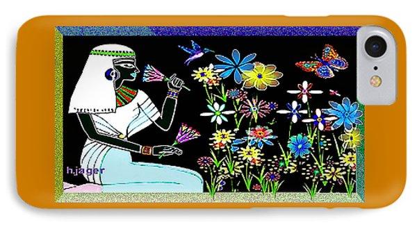 IPhone Case featuring the digital art Egyptian Flower  Garden by Hartmut Jager