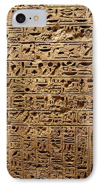 Egyptian Hieroglyphs. IPhone Case by Mark Williamson
