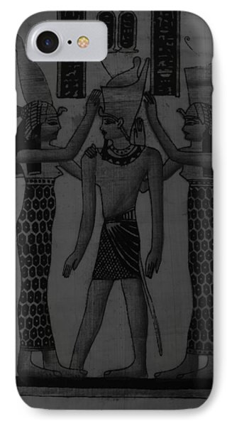 Pharaoh Atem Charcoal IPhone Case by Rob Hans