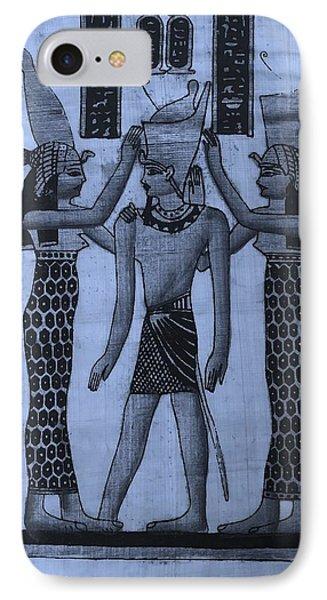 Pharaoh Atem Cyan IPhone Case by Rob Hans