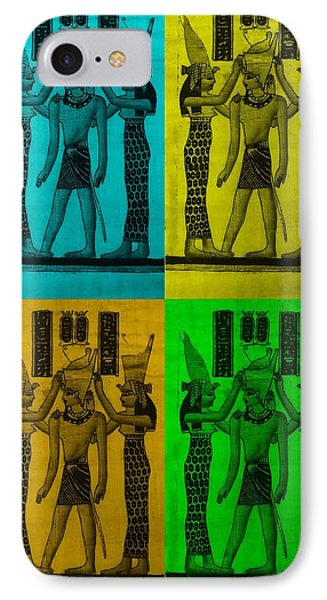Pharaoh Atem In Colors 2 IPhone Case by Rob Hans