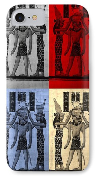 Pharaoh Atem In Colors IPhone Case by Rob Hans