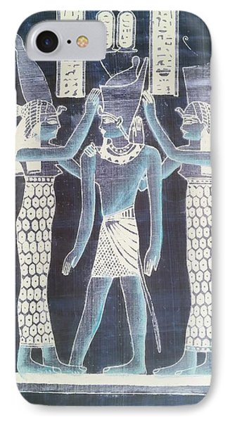 Pharaoh Atem Negative IPhone Case by Rob Hans