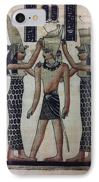 Pharaoh Atem IPhone Case by Rob Hans