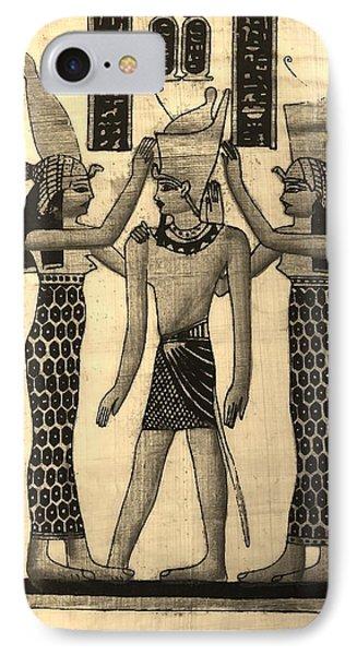 Pharaoh Atem Sepia IPhone Case by Rob Hans