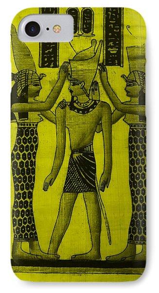 Pharaoh Atem Yellow IPhone Case by Rob Hans