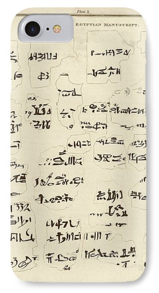 Egyptian Manuscript Fragments IPhone Case by Middle Temple Library