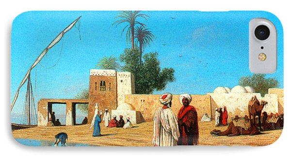 Egyptian Village IPhone Case by Munir Alawi
