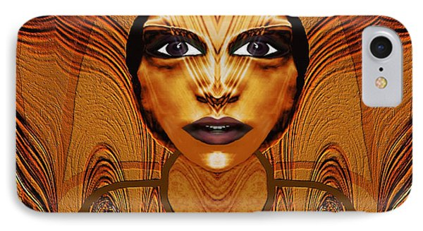 055 - Egyptian Woman Warrior Magic   Phone Case by Irmgard Schoendorf Welch