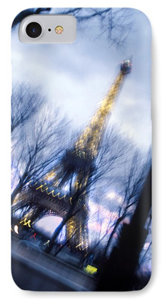 Eiffel On The Move IPhone Case by Mike McGlothlen