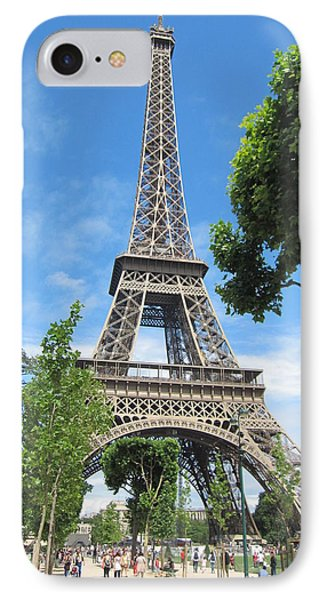 IPhone Case featuring the photograph Eiffel Tower - 1 by Pema Hou