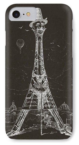 Eiffel Tower Phone Case by Aged Pixel