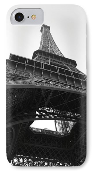 Eiffel Tower B/w IPhone Case by Jennifer Ancker