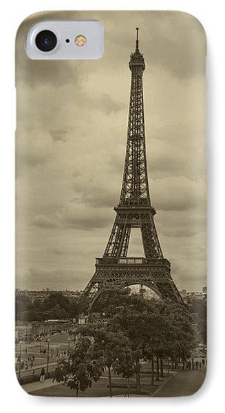 Eiffel Tower IPhone Case by Debra and Dave Vanderlaan