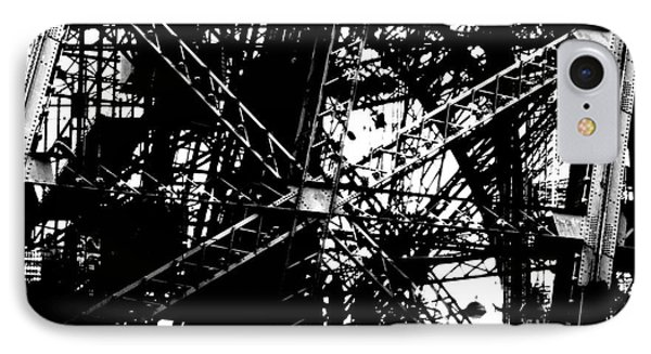 IPhone Case featuring the photograph Eiffel Tower Detail  by Joey Agbayani