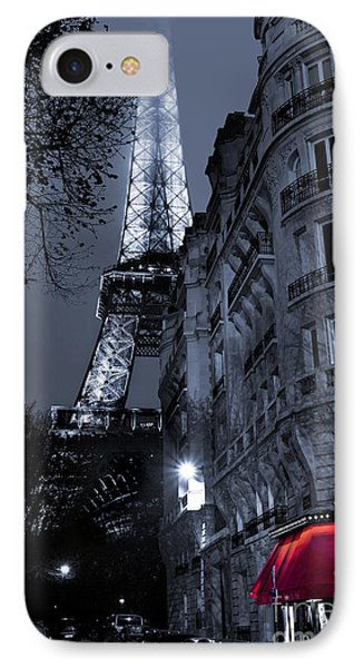 Eiffel Tower From A Side Street IPhone Case by Simon Kayne