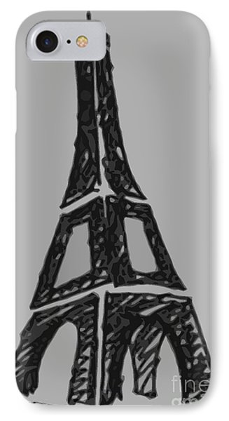Eiffel Tower Graphic Phone Case by Robyn Saunders