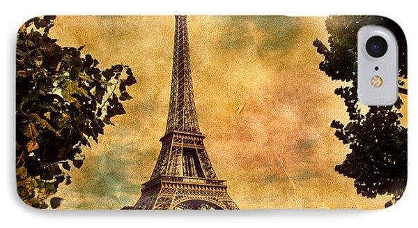 Eiffel Tower In Paris France Phone Case by Michal Bednarek