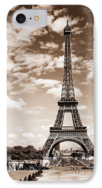 Eiffel Tower In Sepia IPhone Case by Elena Elisseeva