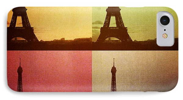Eiffel Tower In Sunset IPhone Case by Marianna Mills