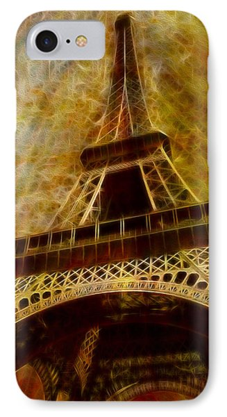 Eiffel Tower IPhone Case by Jack Zulli