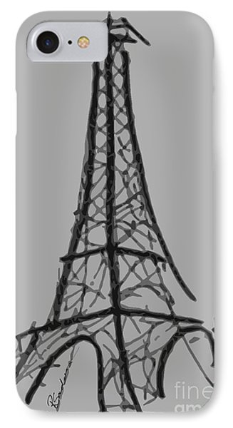 Eiffel Tower Lines Phone Case by Robyn Saunders