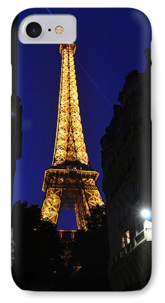 Eiffel Tower Paris France At Night Phone Case by Patricia Awapara