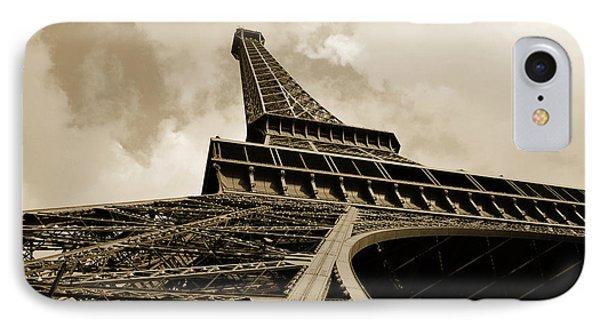 Eiffel Tower Paris France Black And White Phone Case by Patricia Awapara