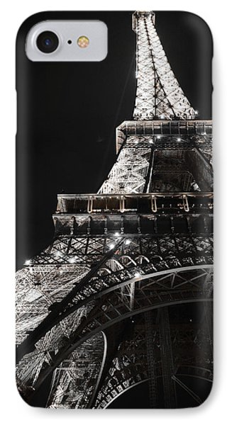 Eiffel Tower Paris France Night Lights IPhone Case by Patricia Awapara