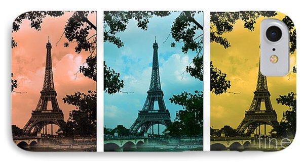 Eiffel Tower Paris France Trio Phone Case by Patricia Awapara